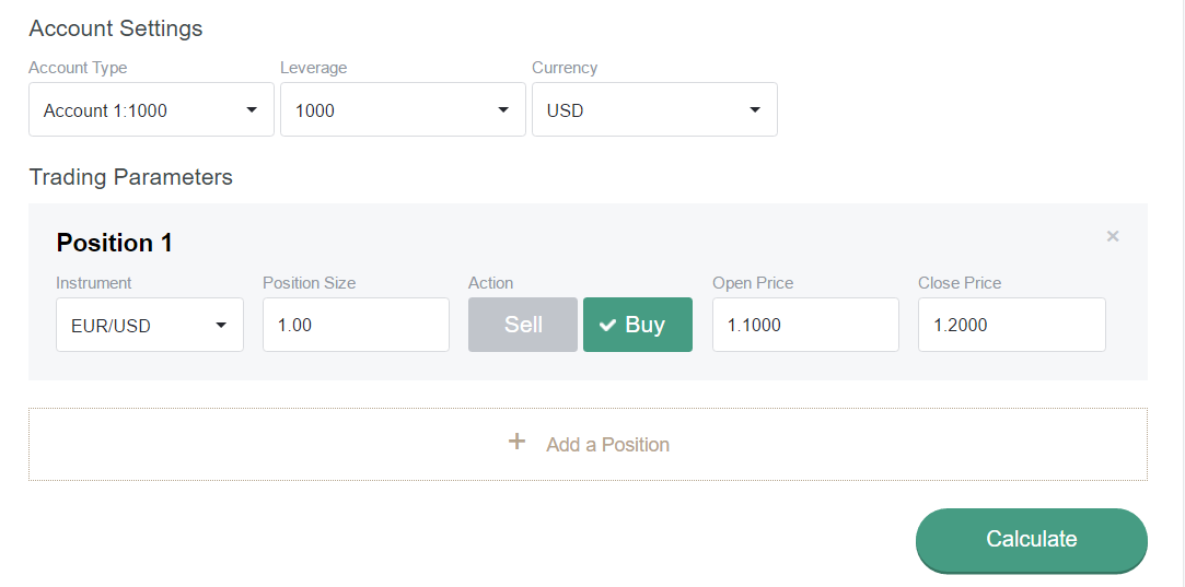 Here Choose The Currency Pair For Which You Are Going To Open A Transaction Or Have Already Opened It Just As In Case Of Leverage Calculator